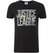 T-Shirt Homme Logo Justice League DC Comics - Noir