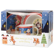Santa Got Stuck up The Chimney 3 Piece Melamine Set