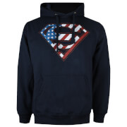 DC Comics Men's Superman Flag Hoody - Navy