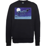 Star Wars Darth Vader AT-AT Christmas Sleigh Black Christmas Sweatshirt