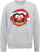 Sweat Homme/Femme Les Muppets de Noël Animal - Disney - Gris