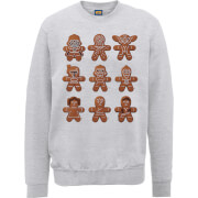 Star Wars Gingerbread Characters Grey Christmas Sweatshirt