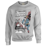 DC Comics Originals Superman Action Comics Grey Christmas Sweatshirt