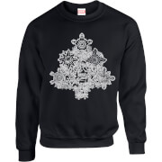 Marvel Comics Marvel Shields Christmas Tree Black Christmas Sweatshirt