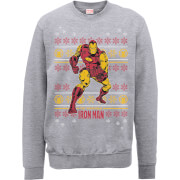 Marvel Comics The Invincible Ironman Grey Christmas Sweatshirt