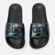 Superdry Women's Superdry Pool Slide Sandals - Petrol Snake
