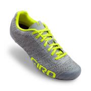 Giro Empire E70 Knit Road Cycling Shoes - Grey Heather/Highlight Yellow