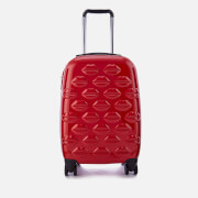 Lulu Guinness Women's Small Lips Hardside Spinner Case - Classic Red