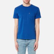 Levi's Men's Short Sleeve Set-In Sunset Pocket Shirt - True Blue Heather