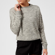 Reebok Women's Marble Logo Crew Neck Sweatshirt - Medium Grey Heather