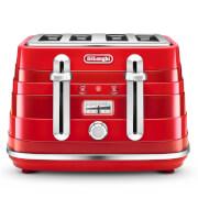 De'Longhi CTA4003.R Avvolta 4 Slice Toaster - Red
