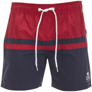 Short de Bain Teesdale Crosshatch - Rouge