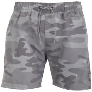 Crosshatch Men's Camo Swim Shorts - Light Grey Camo