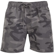 Crosshatch Men's Camo Swim Shorts - Charcoal Camo