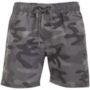 Short de Bain Camouflage Crosshatch - Gris Charbon