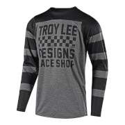 Troy Lee Designs Skyline Long Sleeve Checker Jersey - Grey/Black