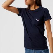 Maison Kitsuné Women's Tricolor Fox T-Shirt - Navy