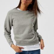 Maison Kitsuné Women's Tricolor Fox Patch Sweatshirt - Grey Melange