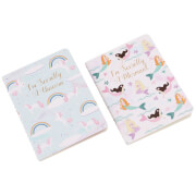 Cloud Nine Mermaid and Unicorn A6 Notebook (Set of 2)