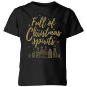 Full Of Christmas Spirits Kids' T-Shirt - Black