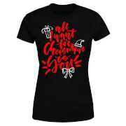 All i want for Christmas Women's T-Shirt - Black
