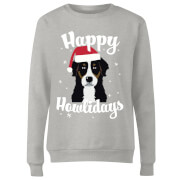 Happy Howlidays Frauen Sweatshirt - Grau