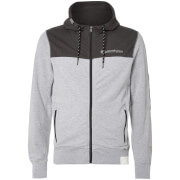 Crosshatch Men's Mullsion Zip Through Hoody - Mid Grey Marl