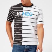 KENZO Men's Stripe Printed T-Shirt - White