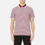 Michael Kors Men's Stripe Greenwich Logo Jacquard Polo Shirt - Garnet