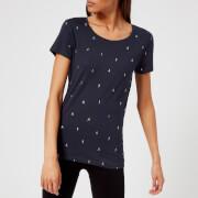 M-Life Women's Mini Yoga T-Shirt - Midnight Blue