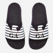 Emporio Armani Men's Slide Sandals - Blue/Night/White