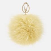 Furla Women's Bubble Pom Pom Keyring - Yellow