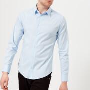 Emporio Armani Men's Small Logo Long Sleeve Shirt - Azzurro