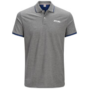 Jack & Jones Men's Originals Retro Polo Shirt - Light Grey Marl