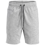 Jack & Jones Men's Core Melange Sweat Shorts - White Marl