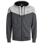 Jack & Jones Men's Core Chevron Zip Through Hoody - Black