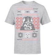 Star Wars Weihnachten Darth Vader Face Sabre T-Shirt - Grau
