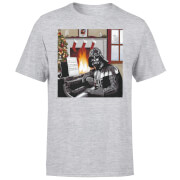 T-Shirt de Noël Homme / Femme Dark Vador Pianiste Star Wars - Gris