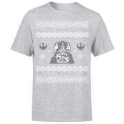 Star Wars Christmas Darth Vader Face Grey T-Shirt