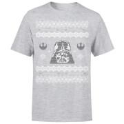 T-Shirt de Noël Homme / Femme Visage Dark Vador Star Wars - Gris