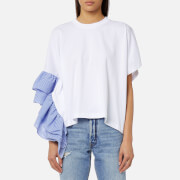 MSGM Women's Top with Frill - White
