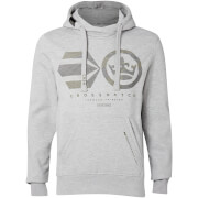 Crosshatch Men's Logocamo Hoody - Light Grey Marl