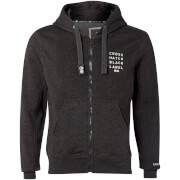 Crosshatch Men's Grampion Zip Through Hoody - Charcoal Marl