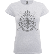 Harry Potter Hogwarts Dames T-shirt - Grijs
