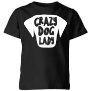 Crazy Dog Lady Kids' T-Shirt - Black