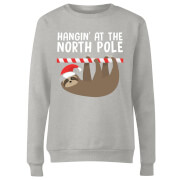 Hangin' At The North Pole Women's Sweatshirt - Grey