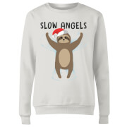 Sweat de Noël Femme Slow Angels - Blanc
