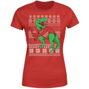 T-Rex Sleeves Women's T-Shirt - Red