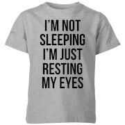 My Little Rascal Im not Sleeping Im Resting my Eyes Kids' T-Shirt - Grey