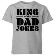 King of the Dad Jokes Kids' T-Shirt - Grey